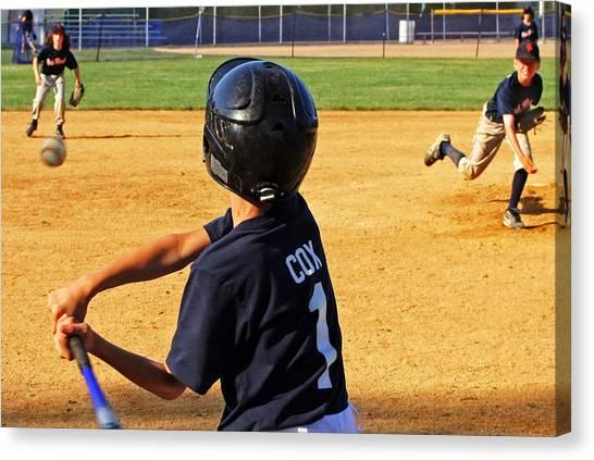 Youth Baseball Canvas Print