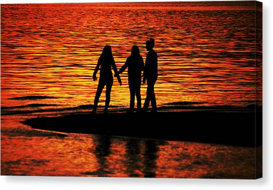 Youthful Friendships Canvas Print