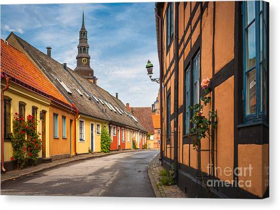 Europa Canvas Print - Ystad Street by Inge Johnsson