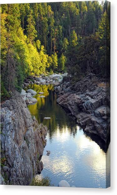 Yuba River Twilight Canvas Print