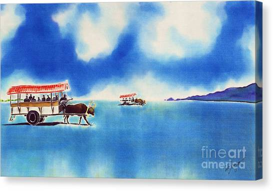 Yubu Island-water Buffalo Taxi  Canvas Print