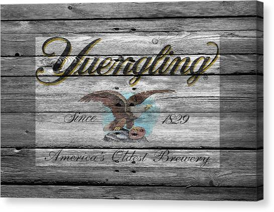 Beer Can Canvas Print - Yuengling by Joe Hamilton