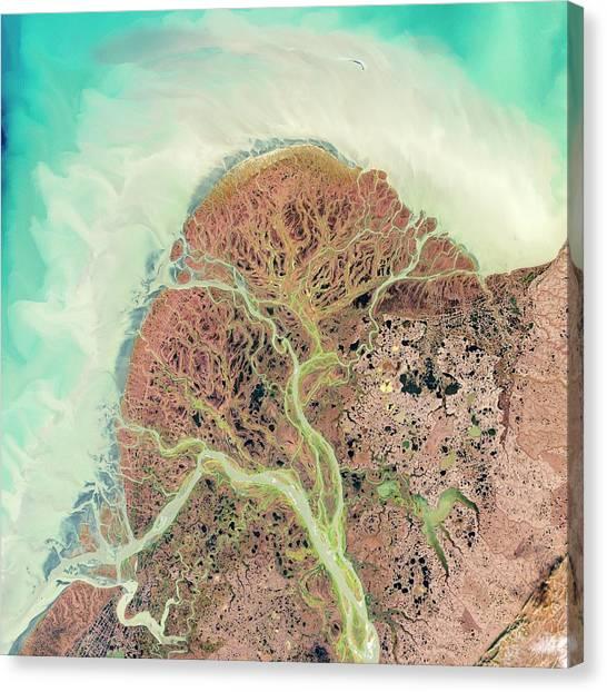 Yukon Canvas Print - Yukon Delta by Nasa/science Photo Library
