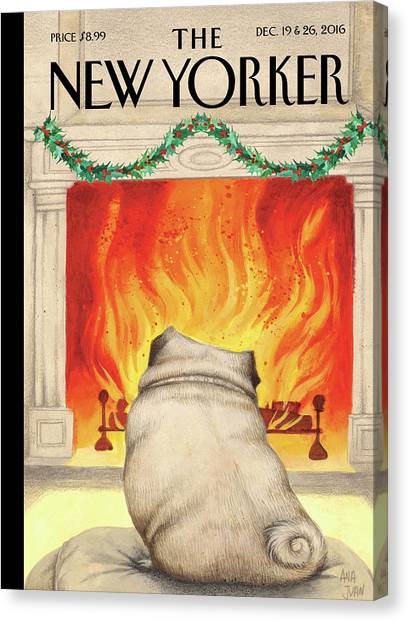 Yule Dog Canvas Print