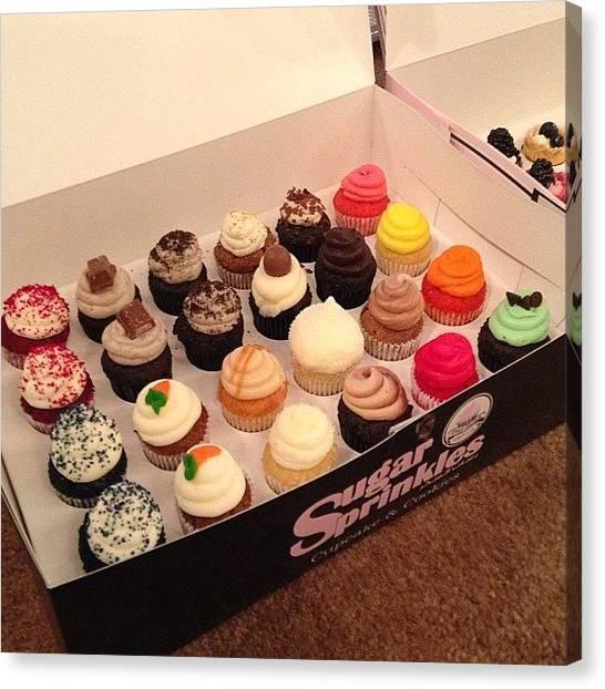 Happy Birthday Canvas Print - Yummy Cupcakes 😍  #sugarsprinkles by Naif Alasmari
