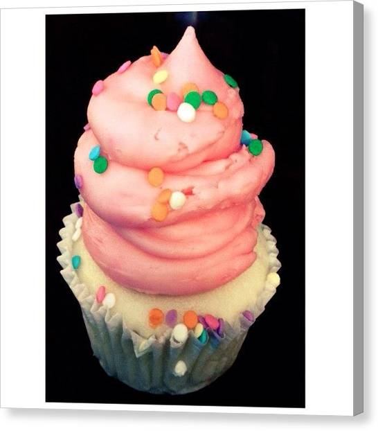 Ponies Canvas Print - Yup, I Devoured This Entire Cupcake: by Pony Thao