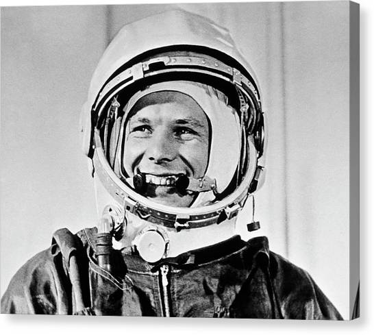 Yuri Gagarin Canvas Print by Sputnik/science Photo Library