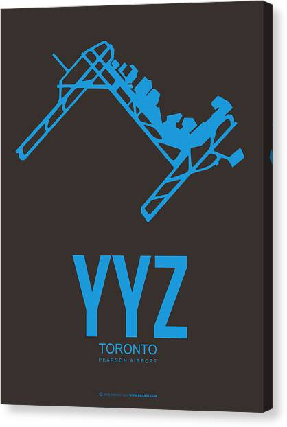 Canadian Canvas Print - Yyz Toronto Airport Poster 2 by Naxart Studio