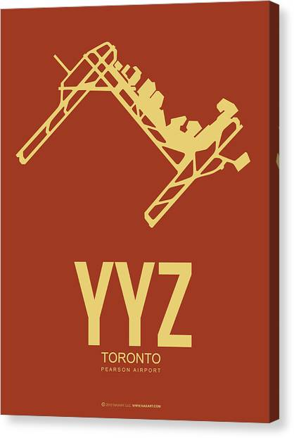 Canadian Canvas Print - Yyz Toronto Airport Poster 3 by Naxart Studio