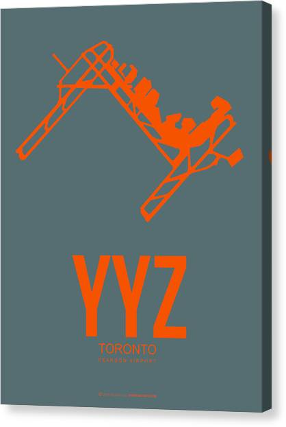 Canadian Canvas Print - Yyz Toronto Airport Poster by Naxart Studio