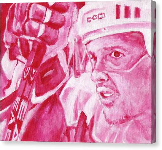 Steve Yzerman Canvas Print - Yzerman by Paul Smutylo