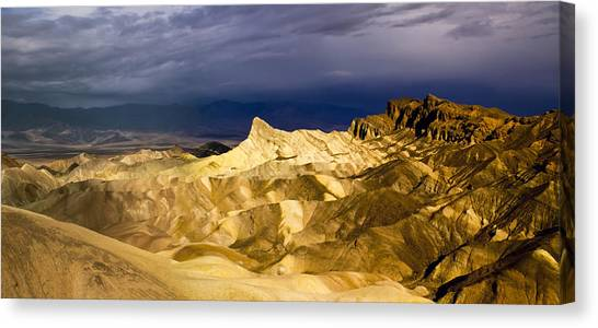 Zabriske Point Panorama 03 Canvas Print