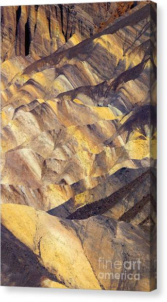 Contour Canvas Print - Zabriskie Color by Mike  Dawson