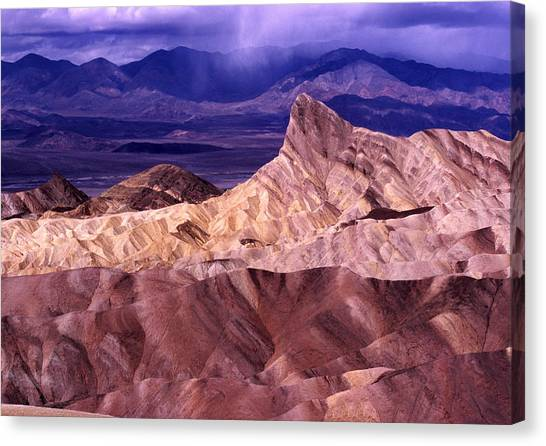 Zabriskie Point Death Valley National Park Canvas Print