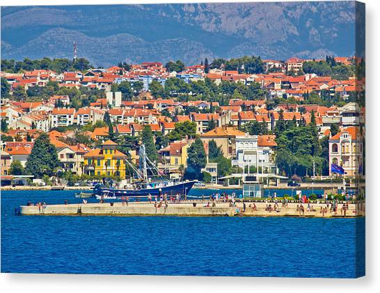 Zadar Waterfront Sea Organs View Canvas Print