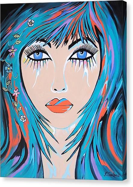 Zahara - Contemporary Woman Art Canvas Print