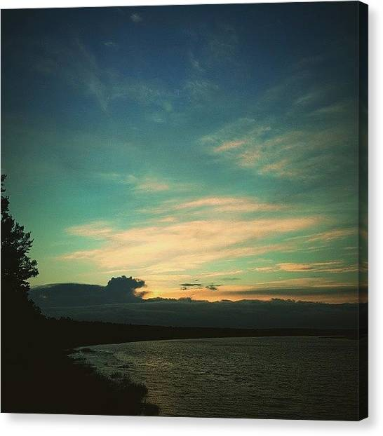 Sunset Horizon Canvas Print - Zakats by Raimond Klavins