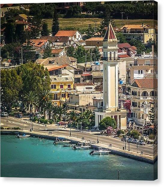 Ford Canvas Print - #zakynthos  Town And Sea Port. #greece by Alistair Ford