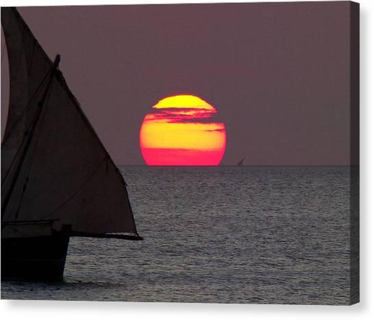 Zanzibar Sunset Canvas Print by Giorgio Darrigo