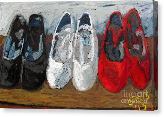Zapatos De Flamenco Canvas Print by Greg Mason Burns