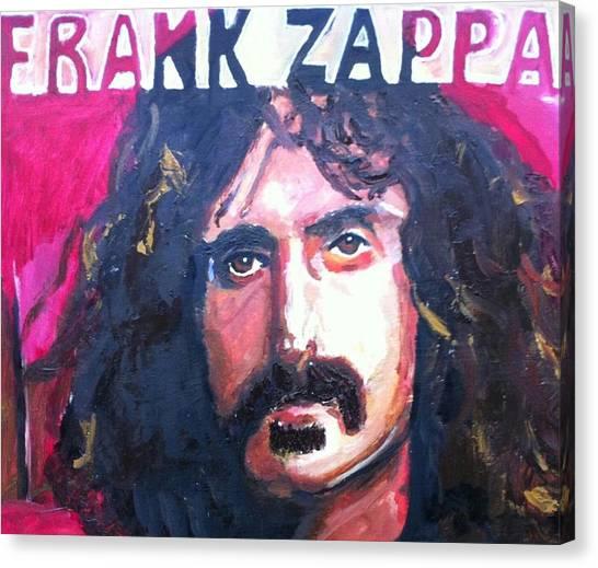 Frank Zappa Canvas Print - Zappa by Marisa Belculfine
