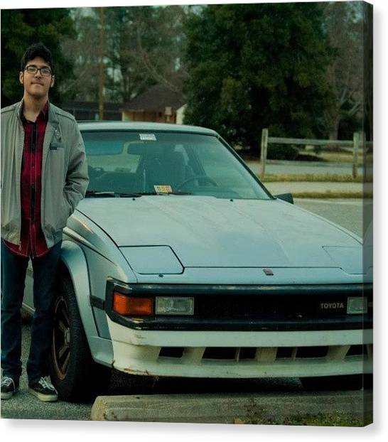 Toyota Canvas Print - @zaynay With His Car #toyota #supra by Amber Edsall
