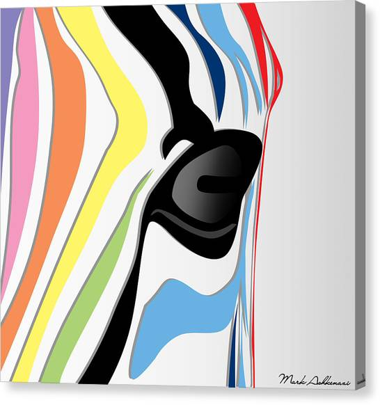 Zebras Canvas Print - Zebra 1 by Mark Ashkenazi