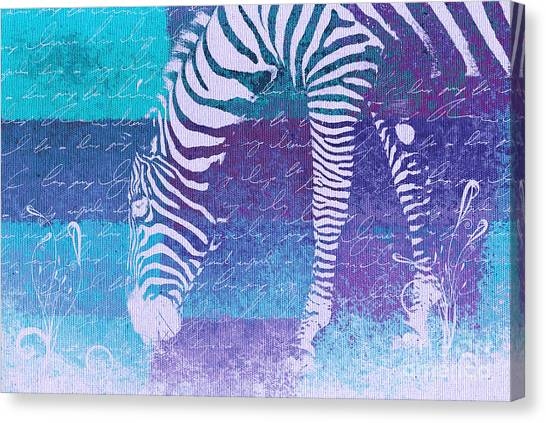 Zebras Canvas Print - Zebra Art - Bp02t01 by Variance Collections