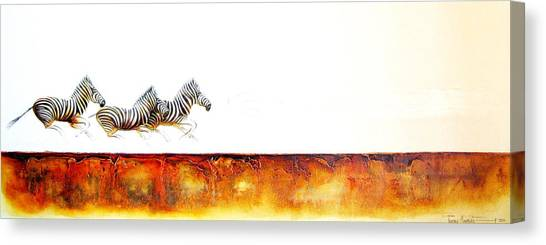 Zebra Crossing - Original Artwork Canvas Print