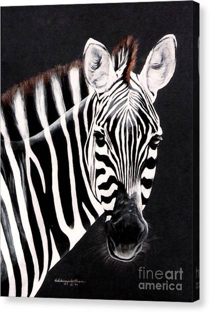 Zebra Facing Right Canvas Print