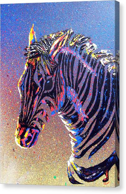 Zebra Fantasy Canvas Print