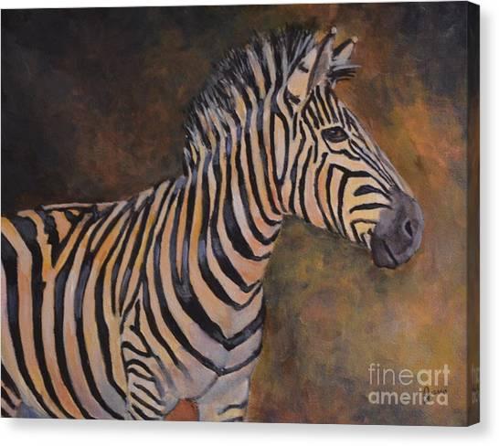 Zebra Canvas Print by Jana Baker