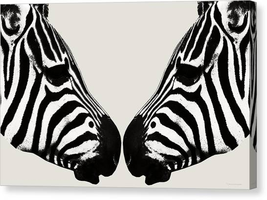 Zebra Love Canvas Print