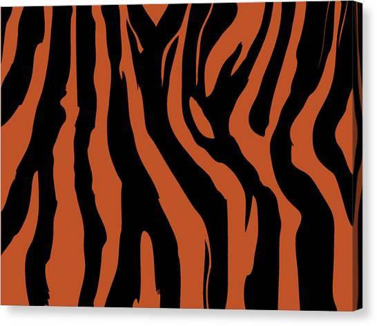 Zebra Print 003 Canvas Print by Kenneth Feliciano
