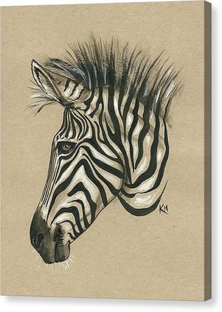 Zebra Profile Canvas Print