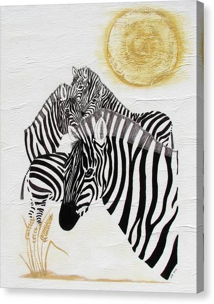 Zebra Quintet Canvas Print