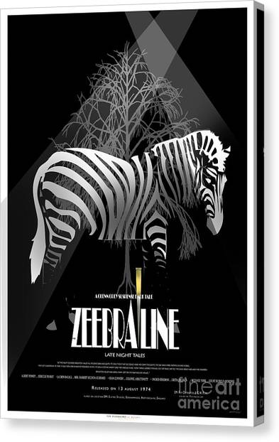 Zebraline Movie Poster Classic A Tribute To Ageth  Canvas Print by Weiler WEILER