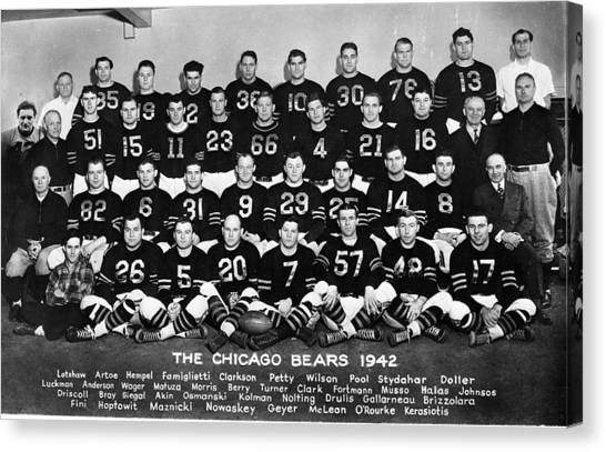 Braces Canvas Print - Bears Of 1942 by Retro Images Archive