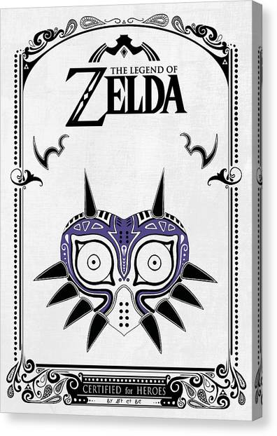 Gameboy Canvas Print - Zelda Legend - Majora's Mask by Art Et Be