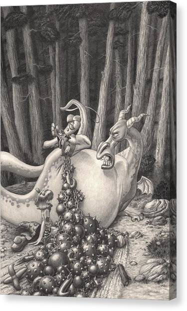 Zelma And The Not-quite-a-dragon Canvas Print