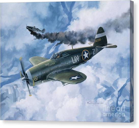 Biplane Canvas Print - Zemke's Thunder by Randy Green