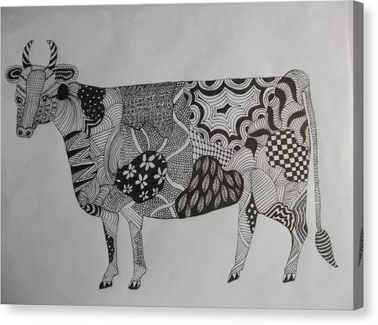 Zen Cow Canvas Print