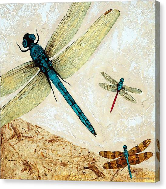 Dragon Fly Canvas Print - Zen Flight - Dragonfly Art By Sharon Cummings by Sharon Cummings