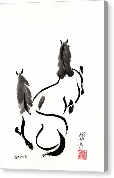 Zen Horses Retired Canvas Print