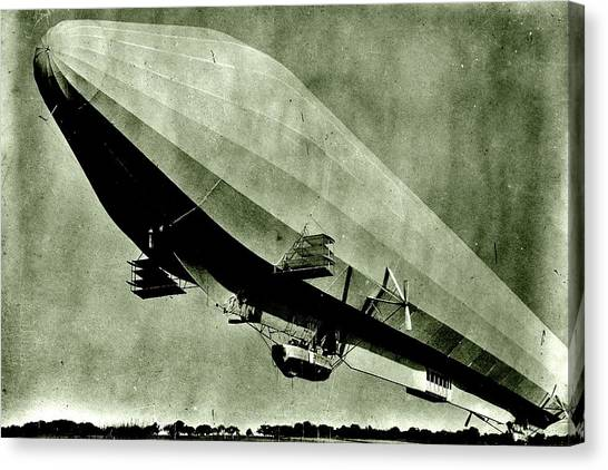 Blimps Canvas Print - Zeppelin 1912 by Benjamin Yeager