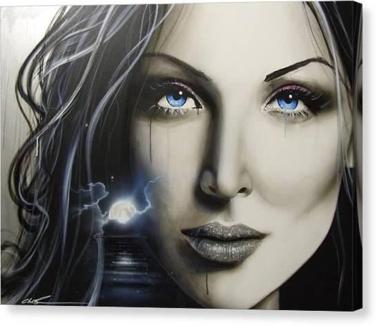 Silver Moonlight Canvas Print - Zerellic Dreams by Christian Chapman Art