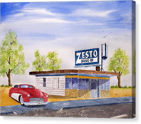 Zesto Drive In Canvas Print