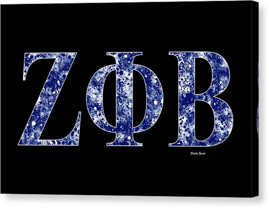Fraternity Canvas Print - Zeta Phi Beta - Black by Stephen Younts