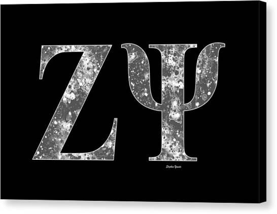New York University Canvas Print - Zeta Psi - Black by Stephen Younts