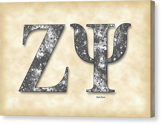 New York University Canvas Print - Zeta Psi - Parchment by Stephen Younts
